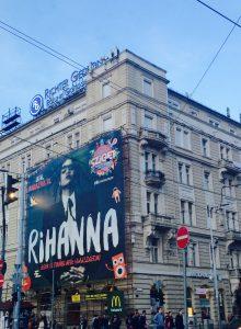 Sziget Festival 2016 advertisement wall house Budapest Rihanna