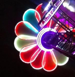 Colors of Sziget Festival flower light
