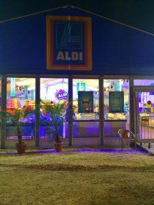 aldi supermarket at sziget festival