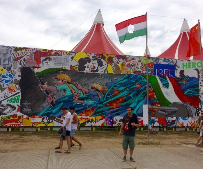 hungarian revolution mural budapest sziget festival