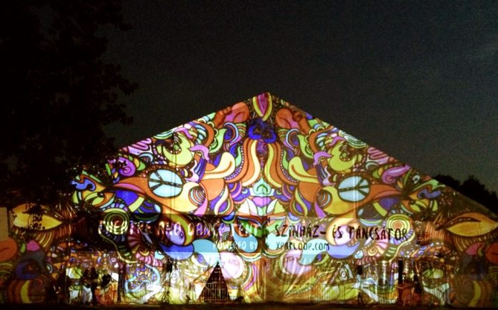 theatre and dance tent visualization sziget festival