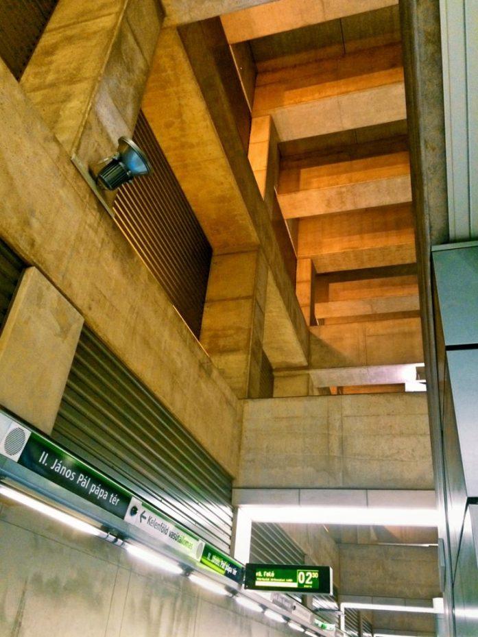 concrete ride metro 4 budapest II janos pal papa ter public transport public space