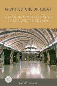 modern architecture metro budapest hall escalator
