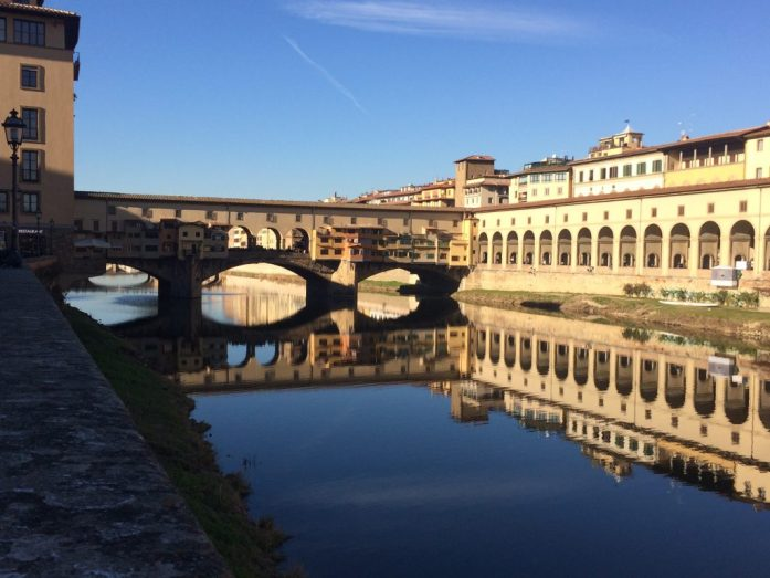 Ponte veccchio florence reflection
