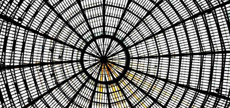 Naples - Galeria Umberto roof cupola view