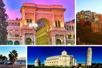 taly Road trip Cinque Terre Milan Civitavecchia Pisa Genoa header