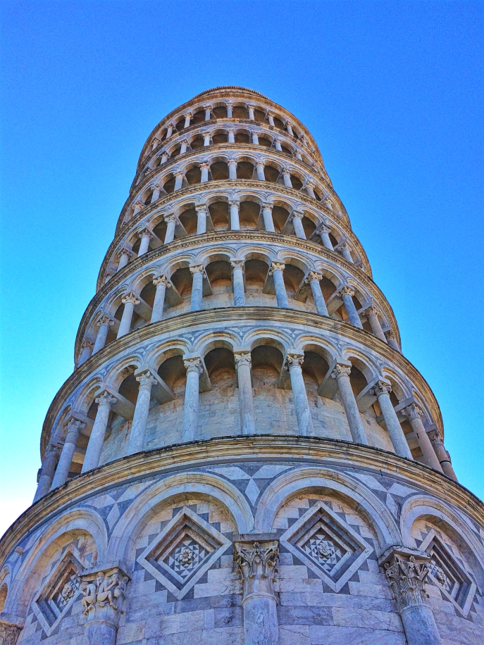 Detail Leaning Tower of Pisa.
