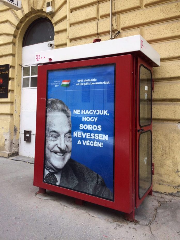 George Soros hate campaign Hungary Budapest
