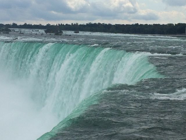 Niagara falls view hectoliters water