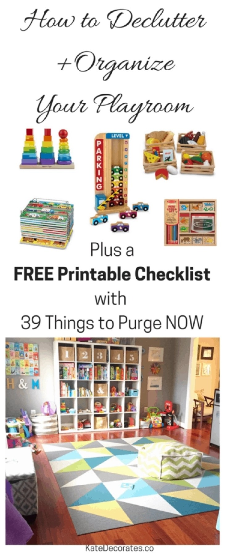 declutter organize playroom