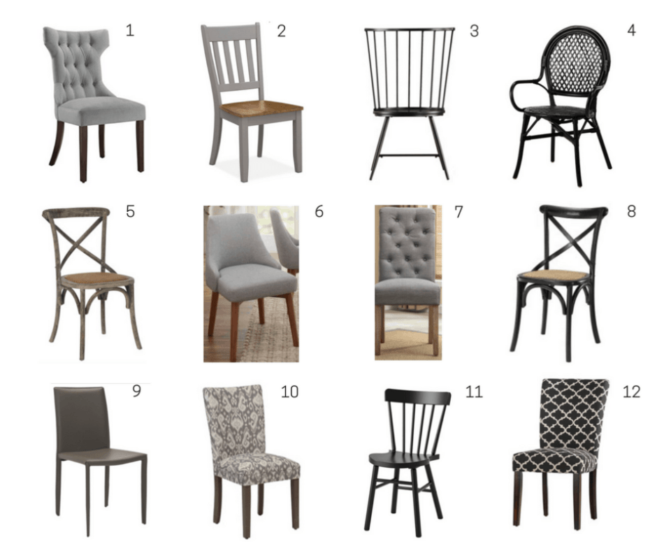 dining chairs black gray under 100 affordable