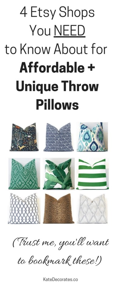Etsy Throw Pillows My 4 Favorite Etsy Shops For Affordable Unique Throw Pillows