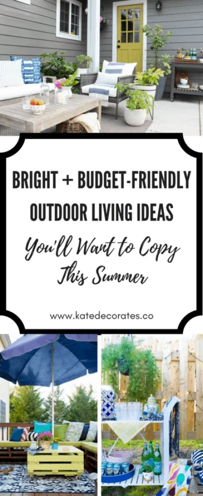 Lots of awesome outdoor living ideas from some of the best bloggers! Love this.