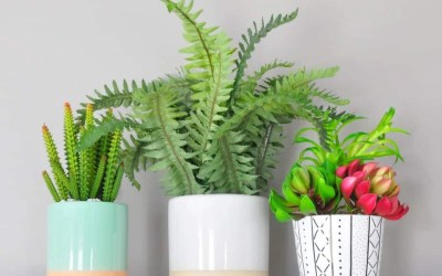 IKEA Hack: DIY Mudcloth-Inspired Ceramic Planter + FREE Printable Wall Art