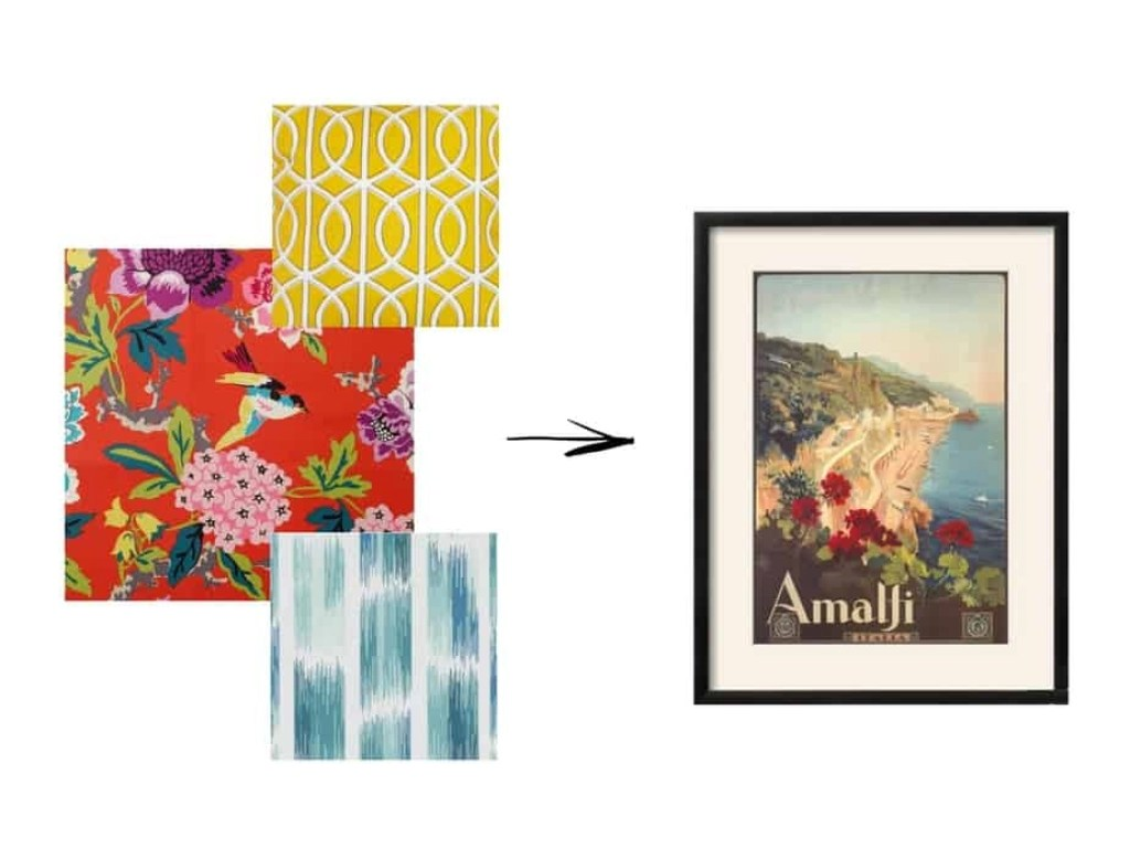 coordinating fabrics and artwork