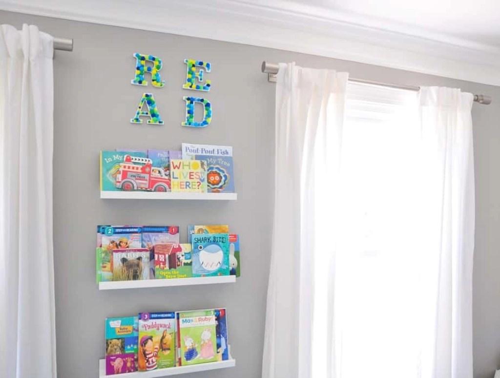 playroom pom pom wall letters diy
