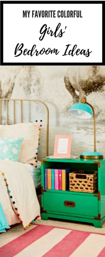 This is a great roundup of colorful girls' bedroom ideas! Love!
