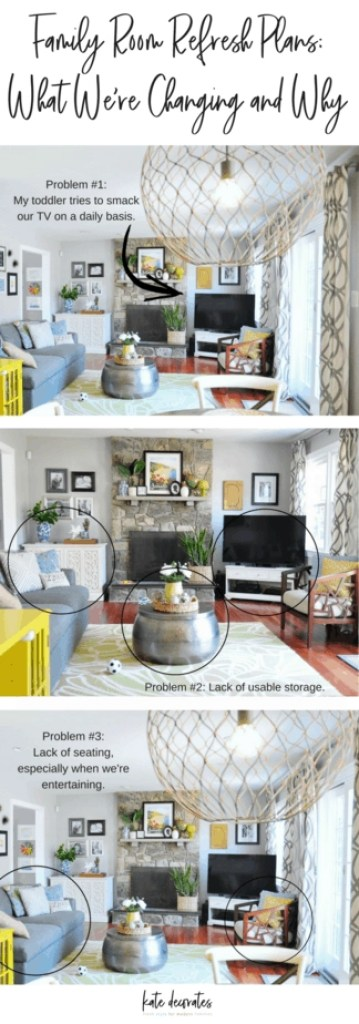 If you're wondering how to make design choices that make parents AND kids happy, then this family room refresh post is for you. There are lots of great ideas here for any young family!