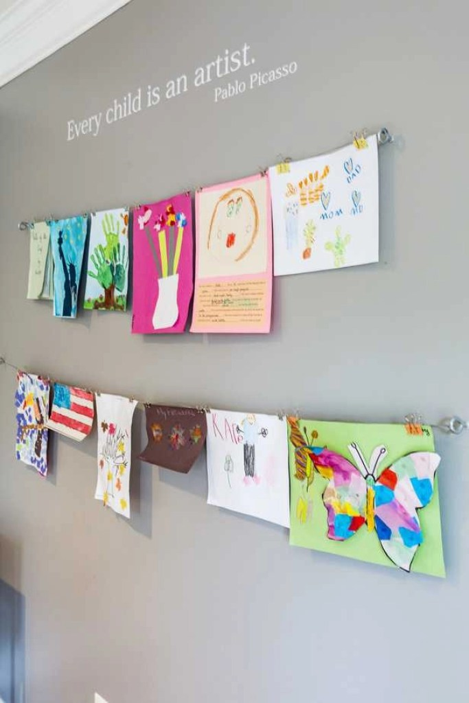 how to display kids artwork at home 2