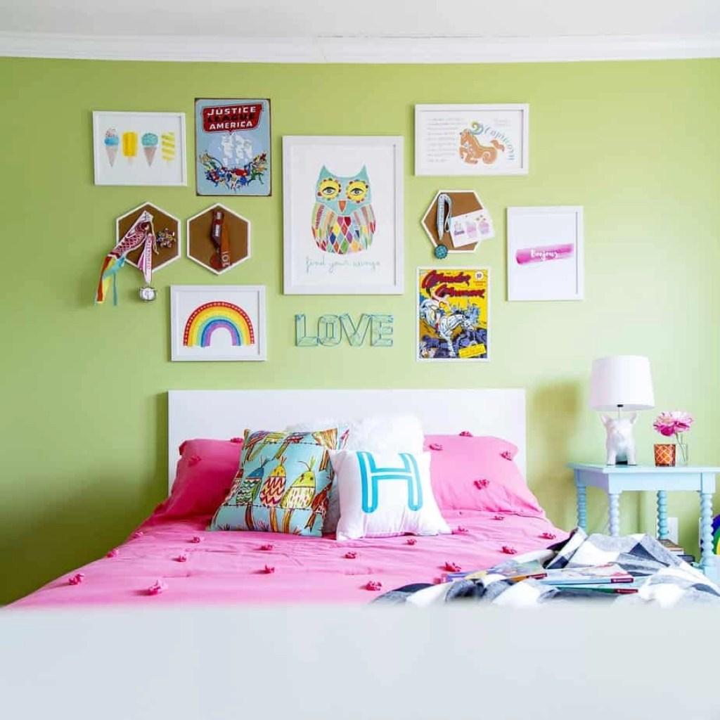 Rainbow Bedroom: A Six-Year Old Girl's Colorful, Rainbow Hued Bedroom