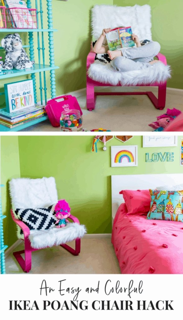 Love this adorable IKEA Poang chair hack!