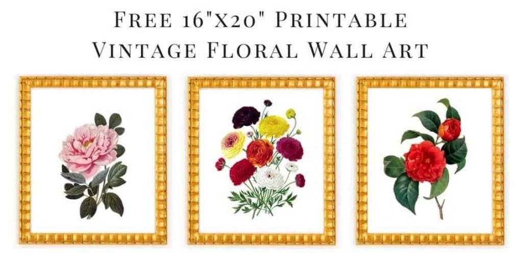 free printable floral wall art