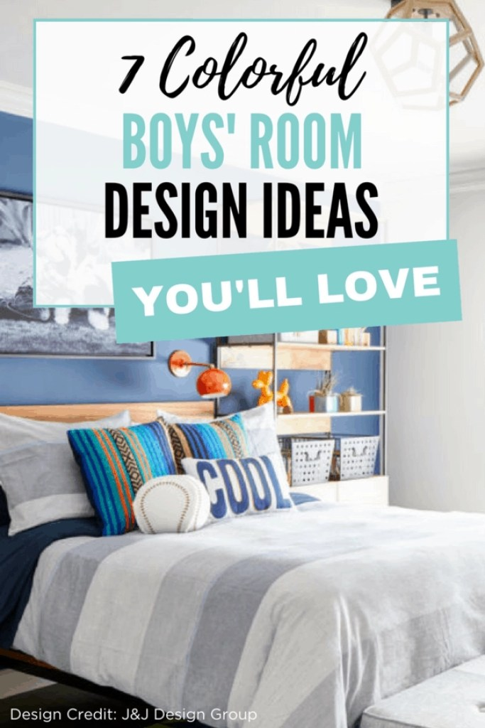 Great roundup of colorful boys' room ideas!