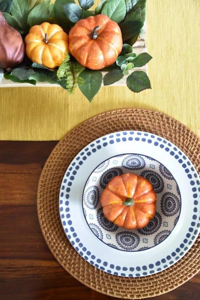 easy fall dining room decor 4
