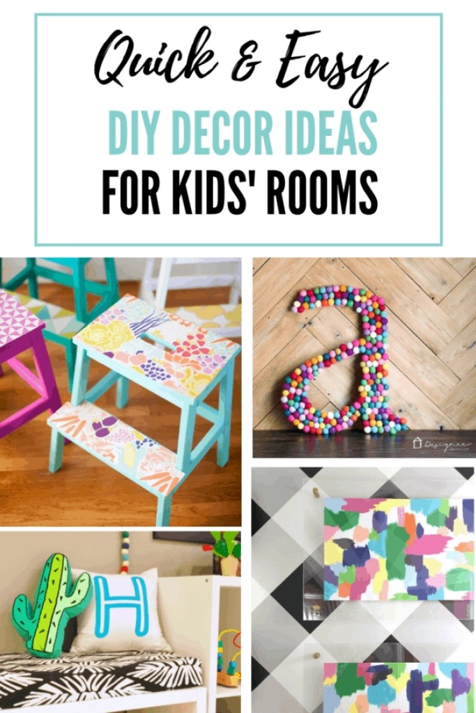 These kids room DIY decor ideas are SO much fun!