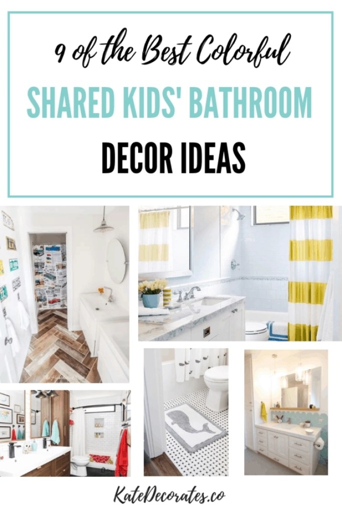 These colorful shared kids bathroom decor ideas are ADORABLE!