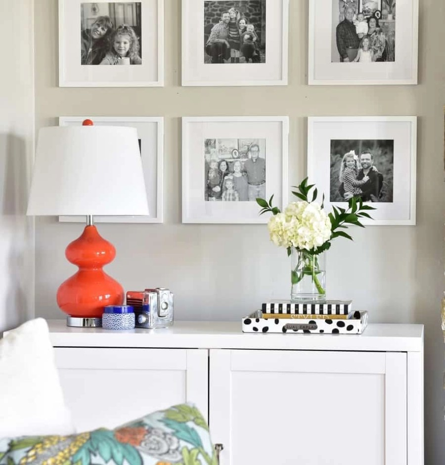 colorful living room spring decorating 2