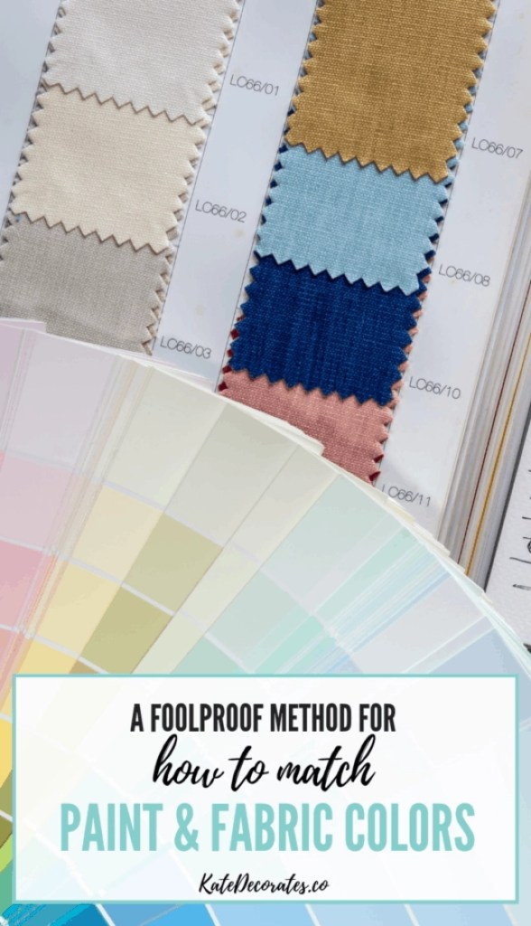 This is great advice on how to match and coordinate paint and fabric colors! #easydecorating #homedecor #homedesign #howtodecorate