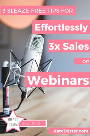 Click through to check out Webinar tips for bloggers and online entrepreneurs who what to sell more online courses on their webinars without sounding awkward