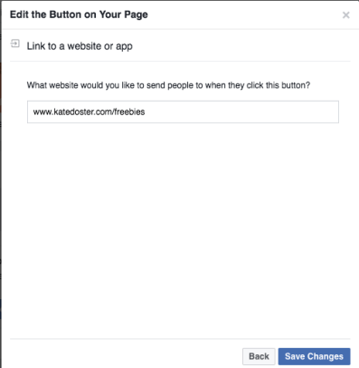 Email subscribers from Facebook Setting call to action button 3
