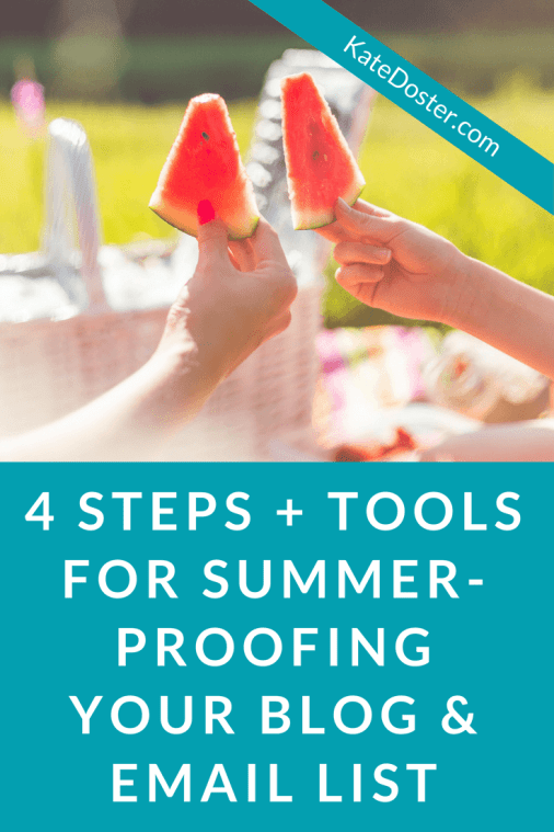 Beginner blogger, summer time is tough with the kids off. Take the pressure of blogging for bucks with this fool-proof 4 step plan for summer proofing your blog so you don't lose readers.