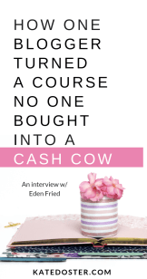 Want to sell digital courses & ebooks to make money blogging but you're afraid your launch might fail. This week on inbox besties Eden Fried tell us exactly how you can turn a failed launch into a cash cow even if you have small email list. #ebooks #launches #makingmoneyonline #makemoneyblogging