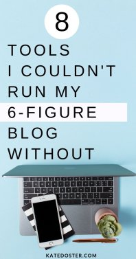 These are the 8 blogging tools, I couldn't run my 6 figure blog without. These are the blogging tools for making money online. ThriveCart, Tailwind, Access Ally