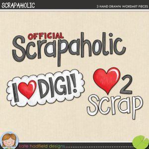 Scrapaholic freebie by Kate Hadfield
