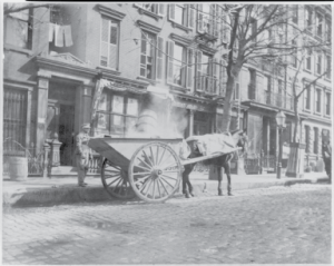 Cart on the street, 1896