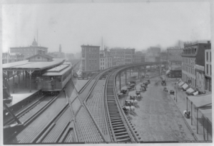 Chatham Square Elevated Train Station 1880