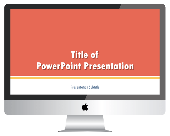 Mockup of PowerPoint presentation title slide on a computer screen