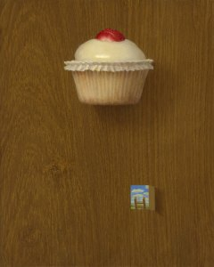 Cupcake, 8 x 10 inches, oil on panel
