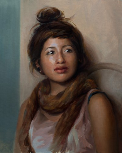 Portrait of Imelda, 20 x 16 inches, oil on panel