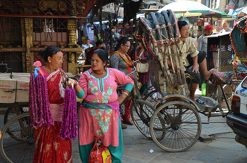 Vendors in Kathmandu, Nepal.