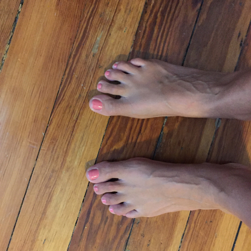 We've recently refinished the hardwood floors in my house so walking barefoot is the new norm.