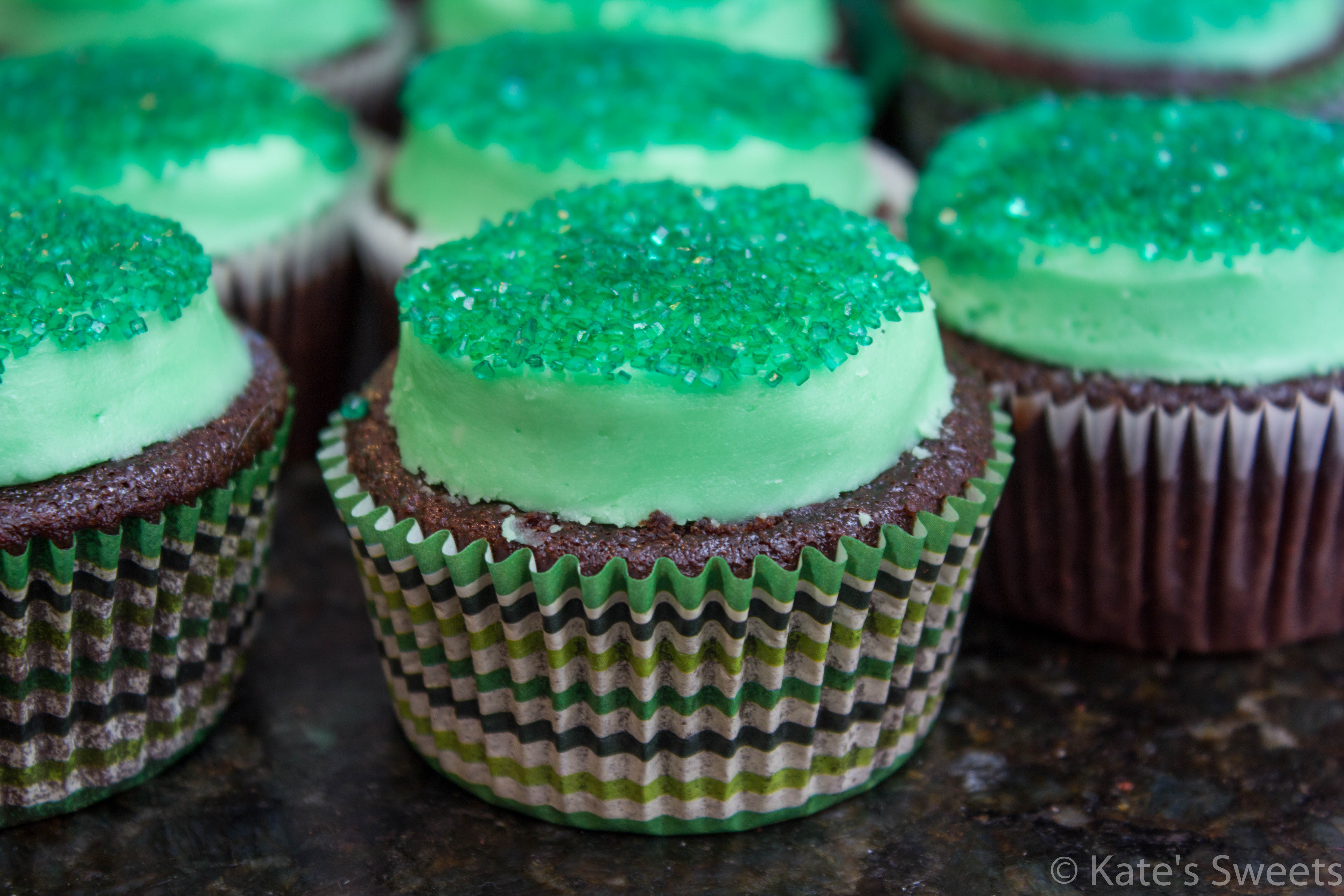 Mint Chocolate Cupcakes - Kate\'s Sweets