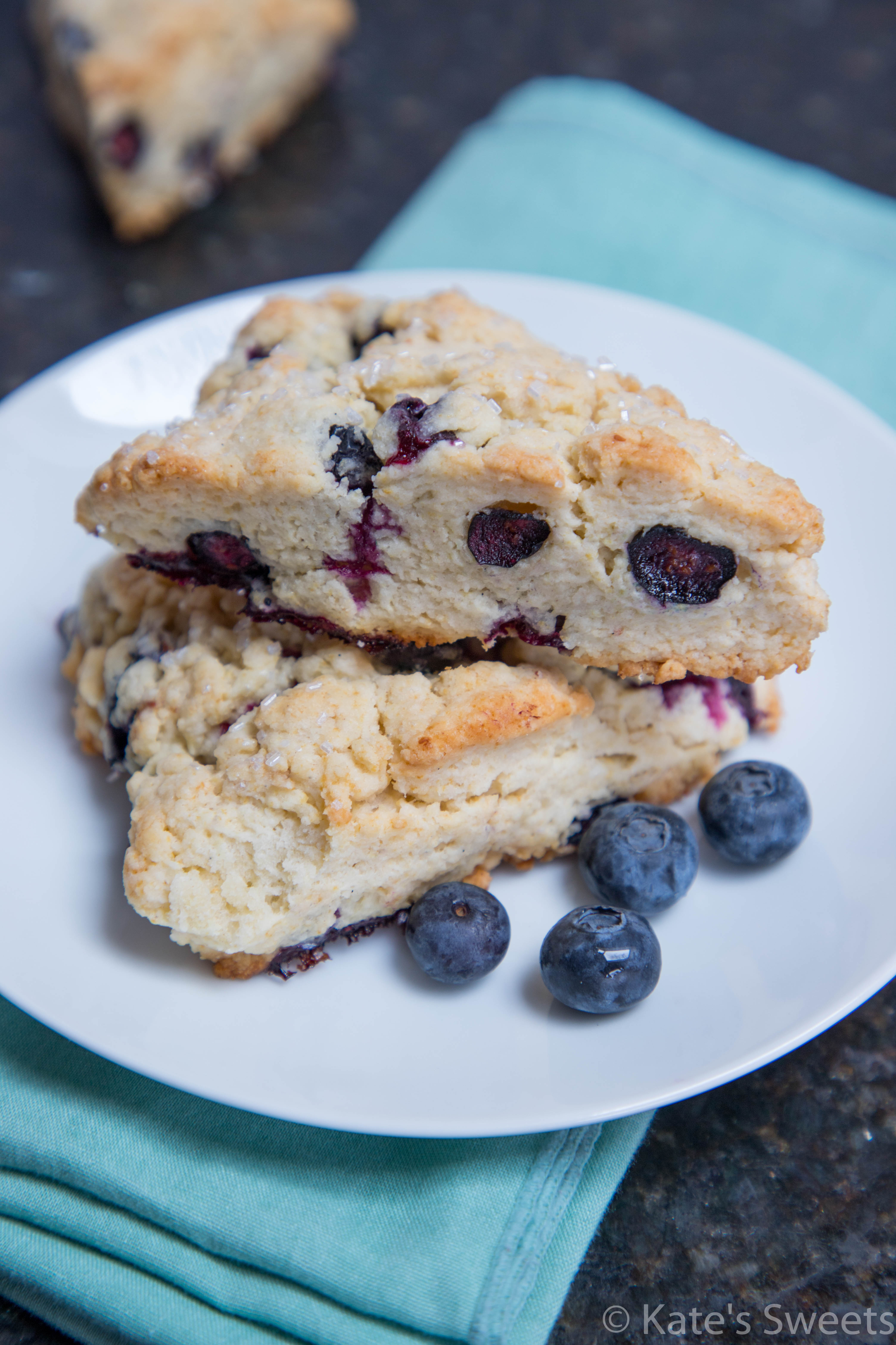 Homemade Blueberry Scones - Kate's Sweets