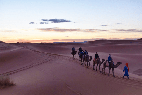 camping in sahara desert travel from spain to morocco