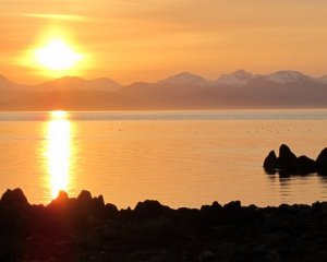 View across Lynn Canal from Lincoln Island to the Chilkat Range. Southeast Alaska. Photo: Kate Trol.