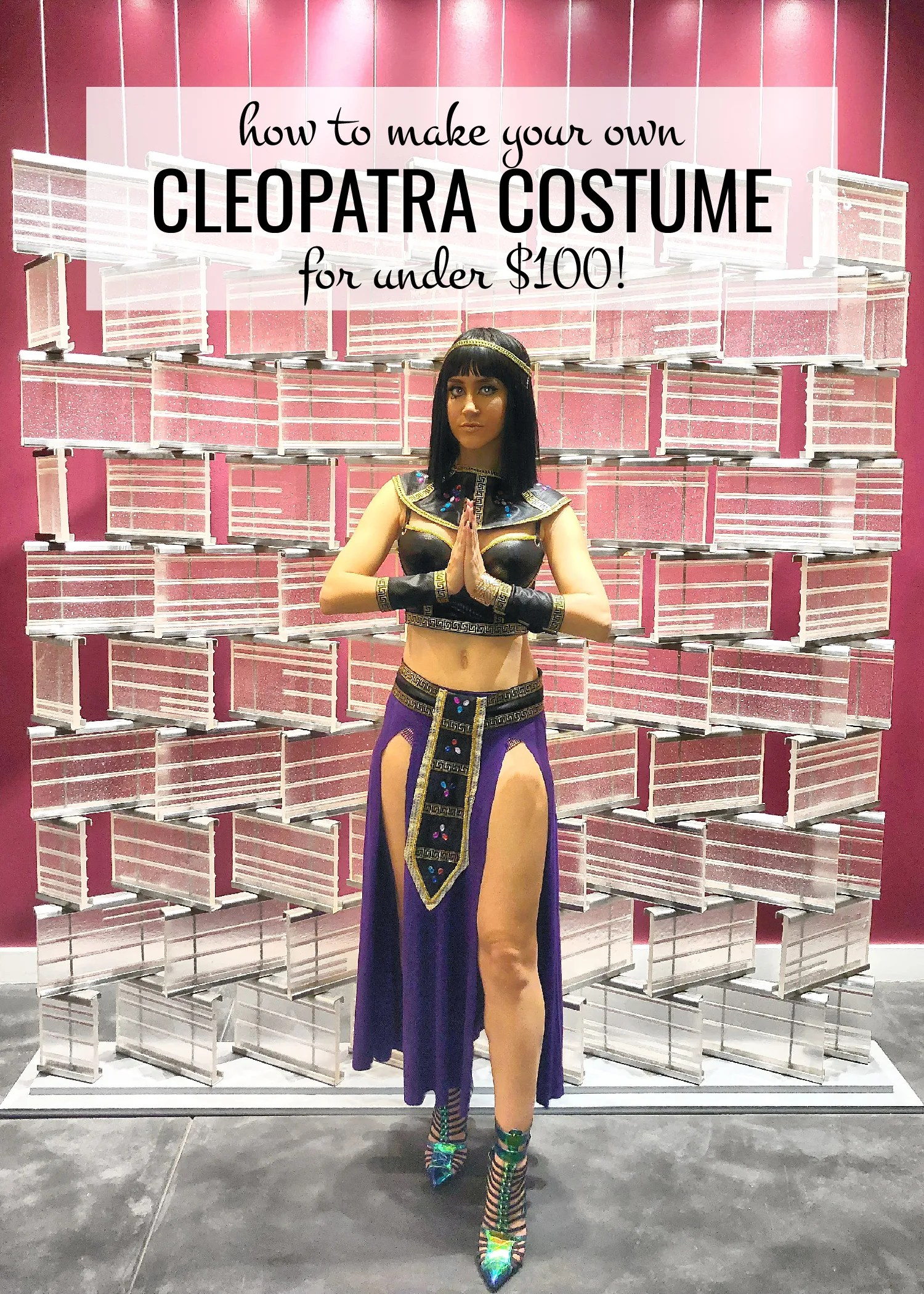 Diy Cleopatra Costume For Under 100 Katey Blaire